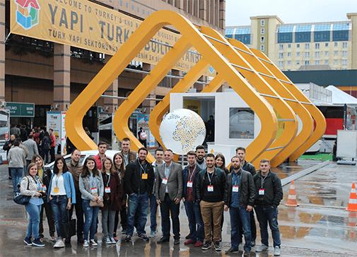 Studentët e Arkitekturës vizituan panairin ndërkombëtar të materialeve ndërtimore në Stamboll