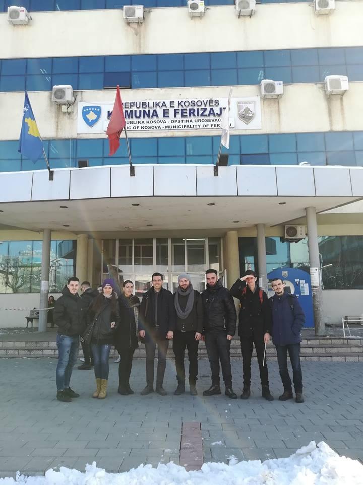 Studentët e Arkitekturës vizitojnë Komunën e Ferizajt dhe kompani ndërtimore në këtë qytet