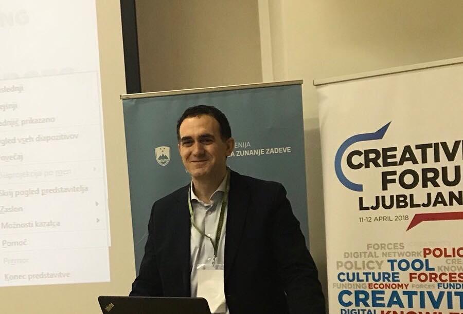 """Rektori Hajrizi, panelist nga Kosova në konferencën """"Creativity Forum Ljubljana"""", në Slloveni"""