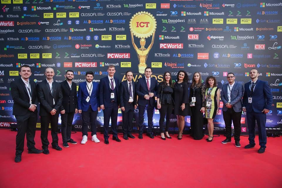 """Studentët e UBT-së triumfojnë në garën """"Albanian ICT Awards"""""""