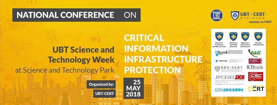 """Më 25 maj, në UBT do të mbahet konferenca """"Infrastrukturat Kritike të Informacionit dhe Mbrojtja e tyre – CIIP & GDPR"""""""