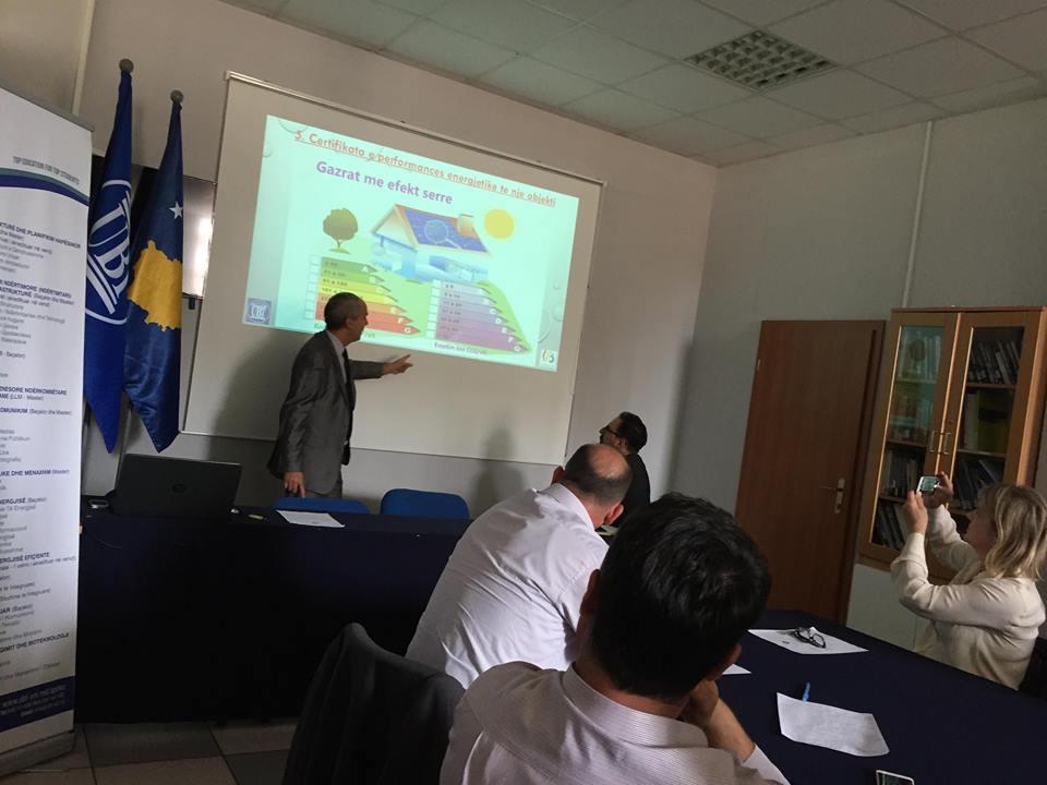 Eksperti nga Belgjika, Ibrahim Hajdari diskuton në UBT për certifikimin e auditorëve të energjisë