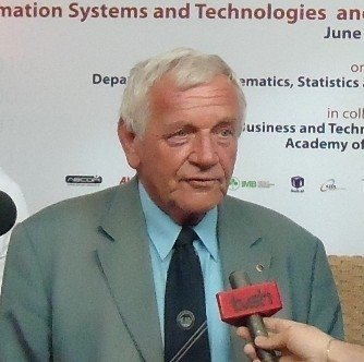 Prof. Dr. Peter Kopacek Converses With UBT Students