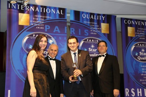 "UBT Receives ""International Star for Leadership in Quality"" Award"
