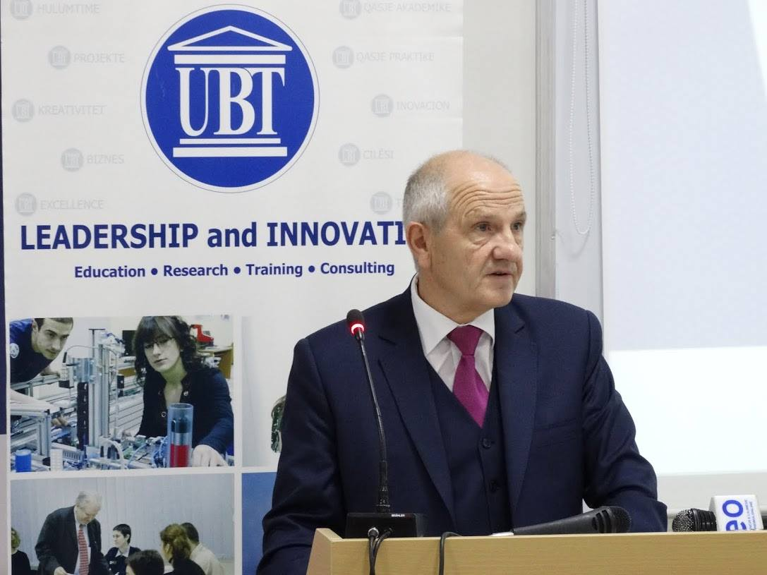 Dr. Fatmir Sejdiu Speaks at UBT Conference on Kosovo's Cultural and Historic Heritage
