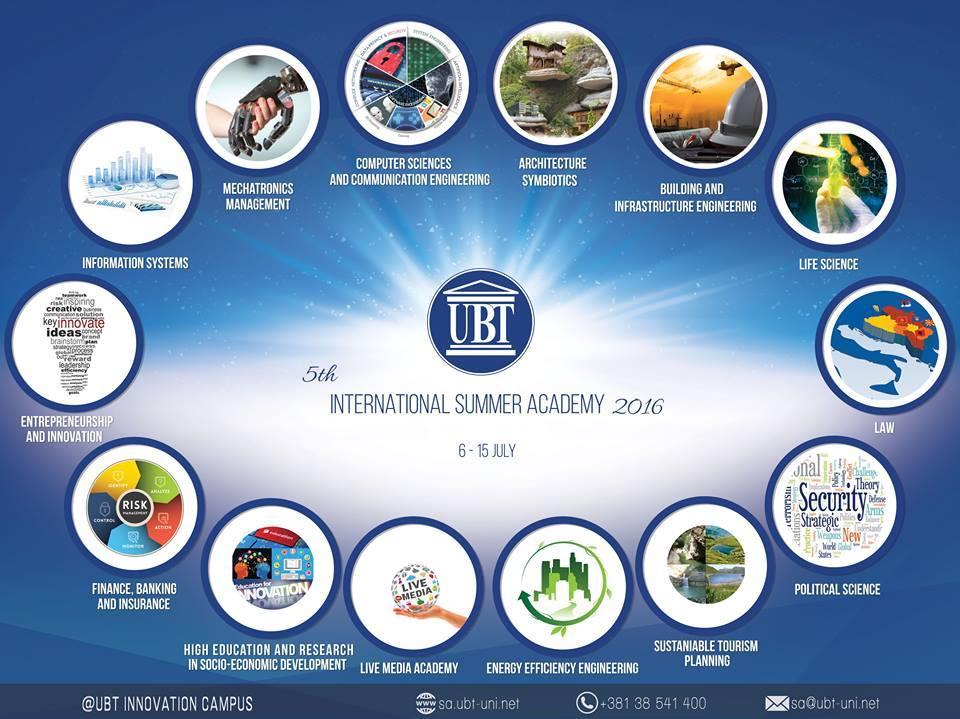 UBT-ja organizon Akademi Ndërkombëtare Verore, 6 – 15 korrik 2016