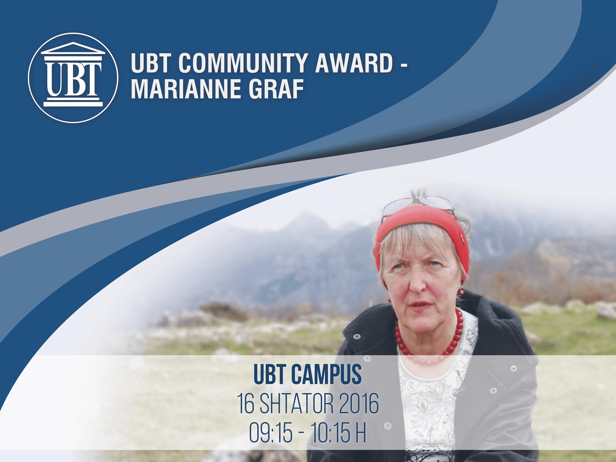 """Pesë grupe studentësh të UBT-së u shpërblyen me Çmimin """"Marianne Graf"""""""
