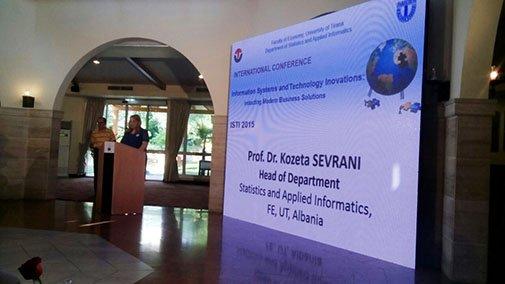 Rektori i UBT-së në konferencën e Sistemeve të Informacionit dhe Inovacionit në Teknologji në Tiranë