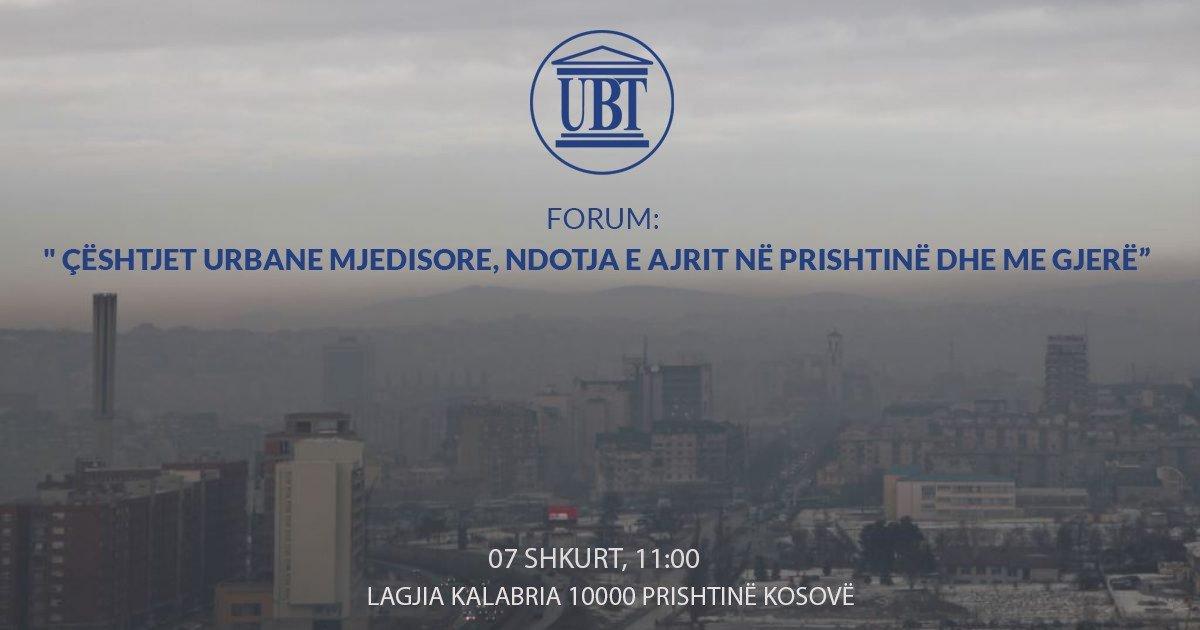Në UBT, të mërkurën mbahet forumi