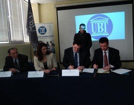 UBT-ja nënshkruan marrëveshje bashkëpunimi me SHKÇAK