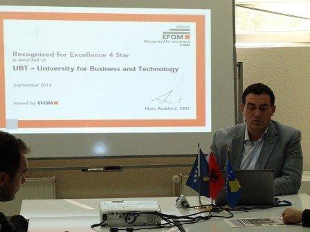 Për herë të parë në Ballkan UBT vlerësohet me çmimin e Excellencës nga Organizata EFQM