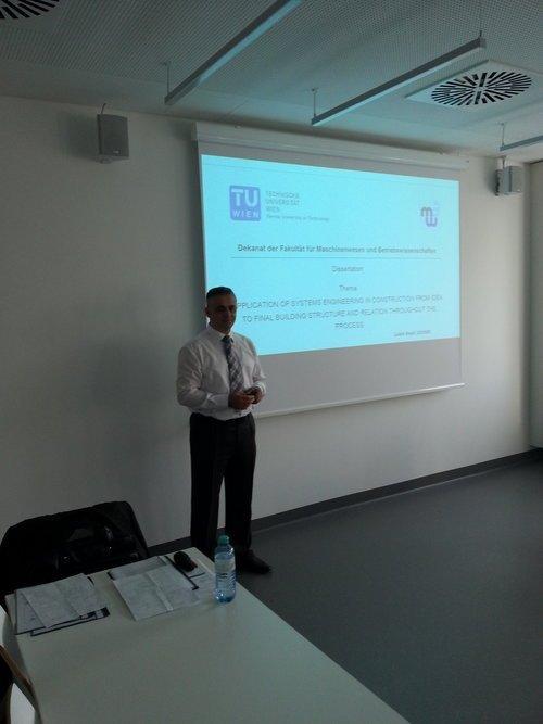 Profesori Lulzim Beqiri mori titullin doktor shkence në Universitetin e Vjenës për Teknologji