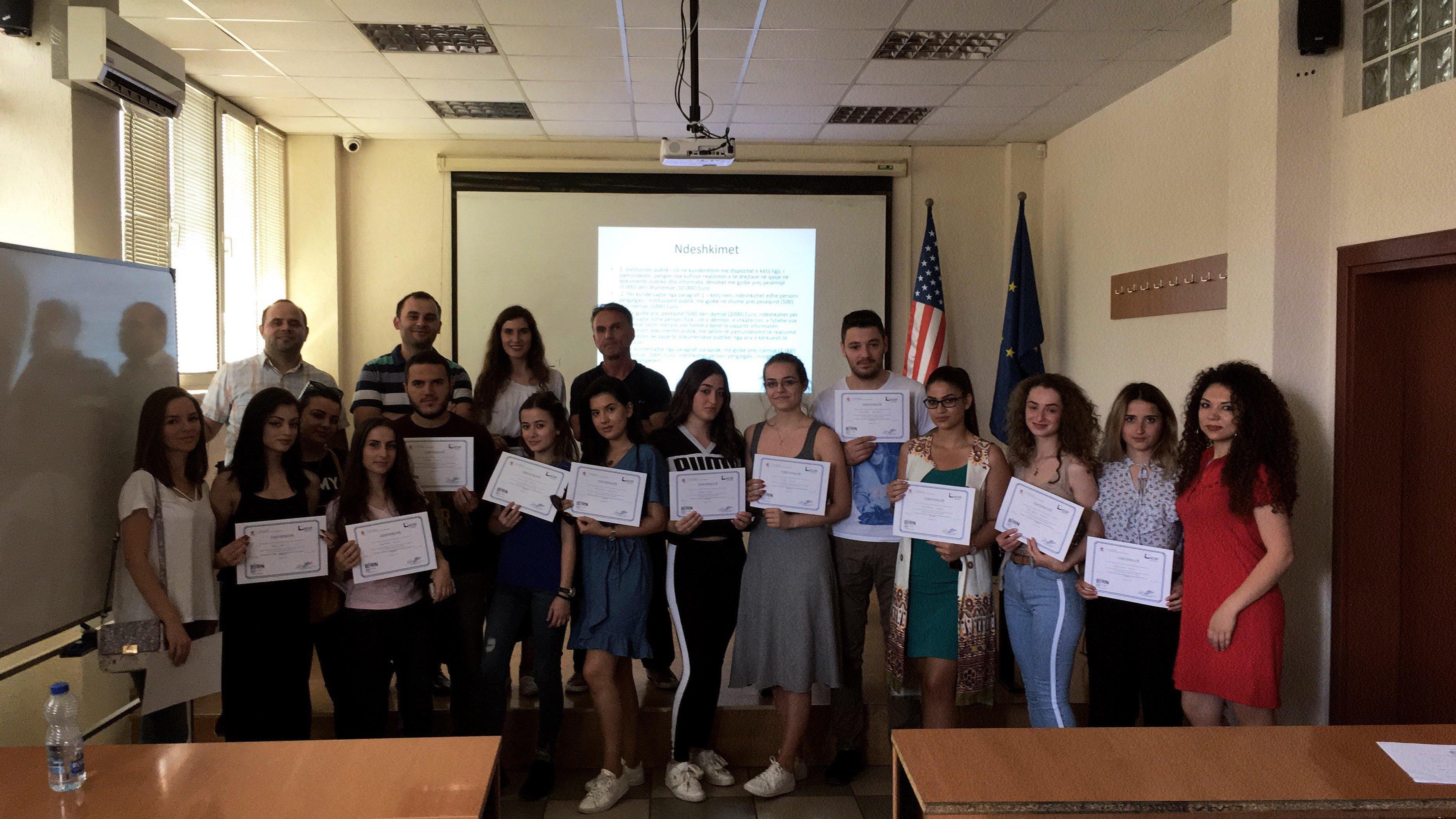 BIRN mban trajnim për gazetari hulumtuese për studentët e UBT-së
