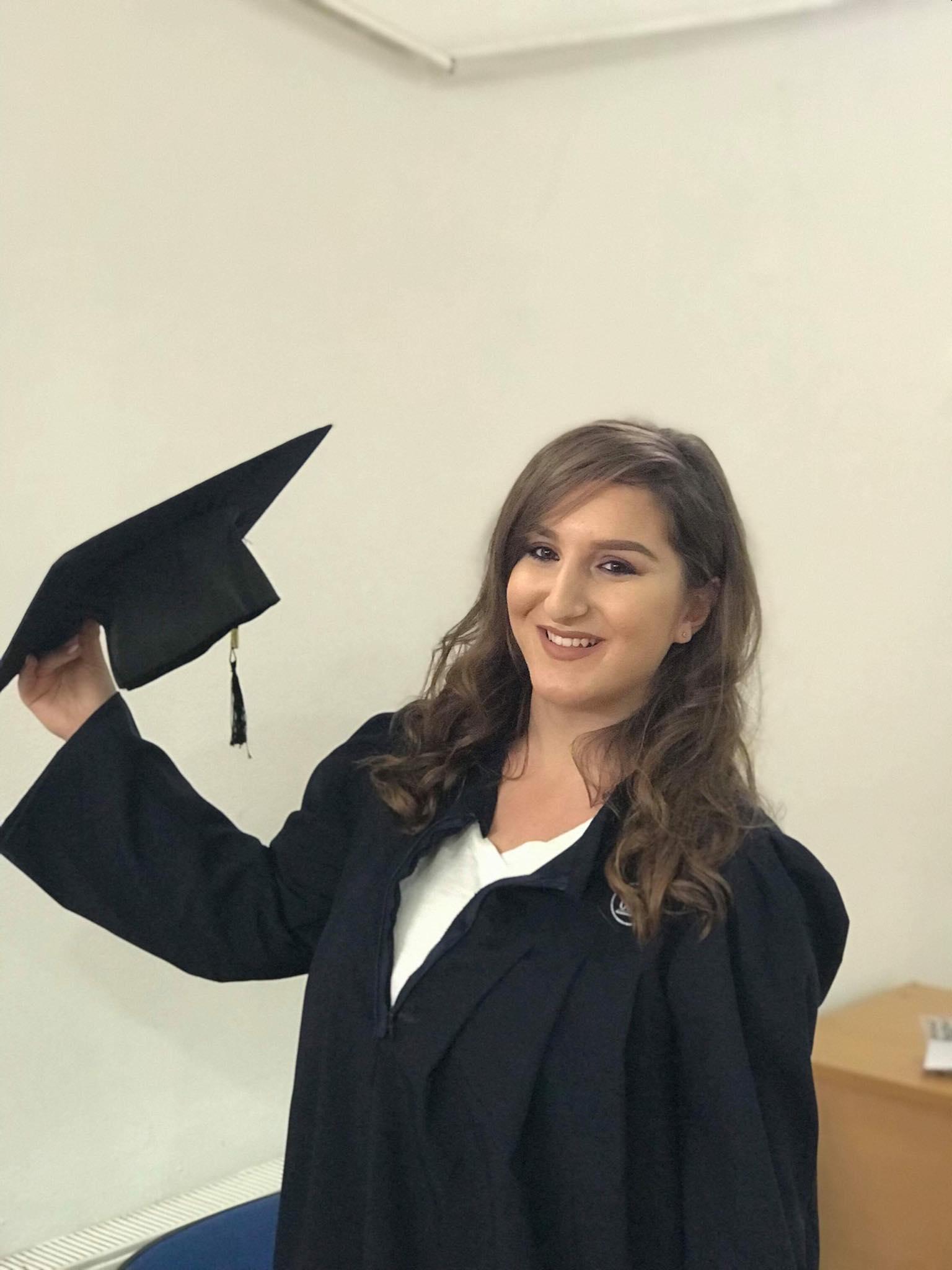 "The former UBT student Gresa Sheqiri earned a scholarship from ""PoSIG"" program"