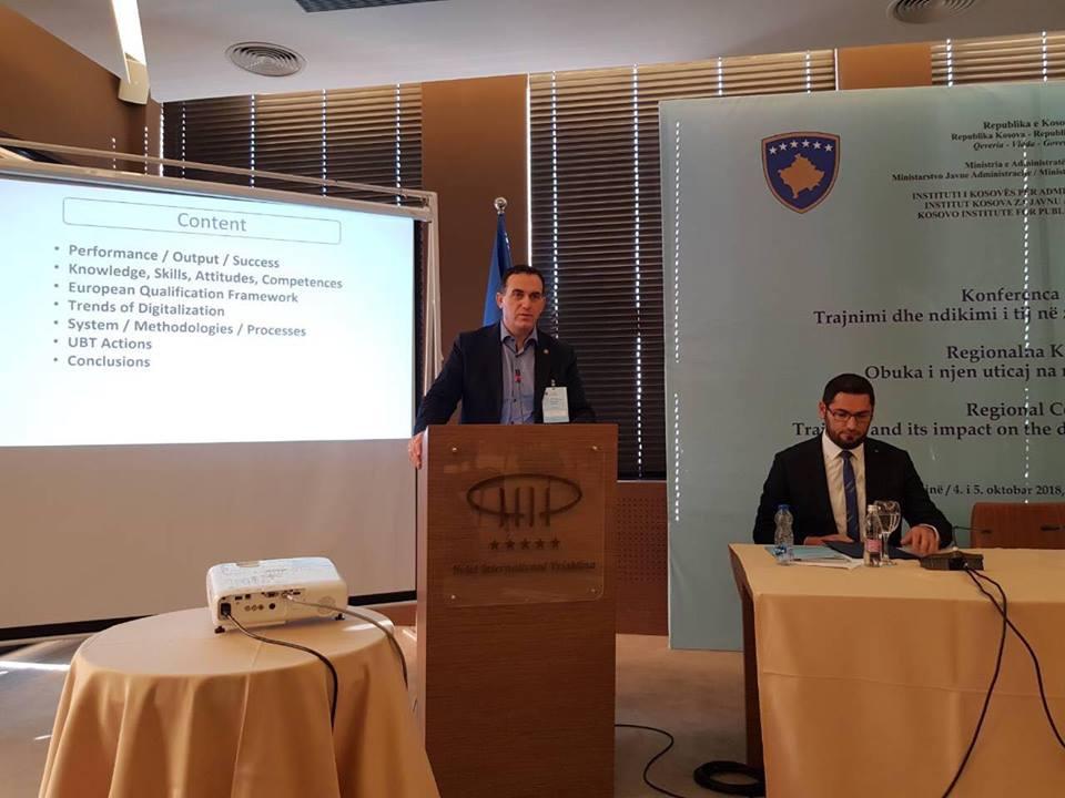 """Përfaqësuesit e UBT-së ndajnë ekspertizën dhe përvojën në konferencën """"Trajnimi dhe ndikimi i tij në zhvillimin e shërbimit civil"""""""