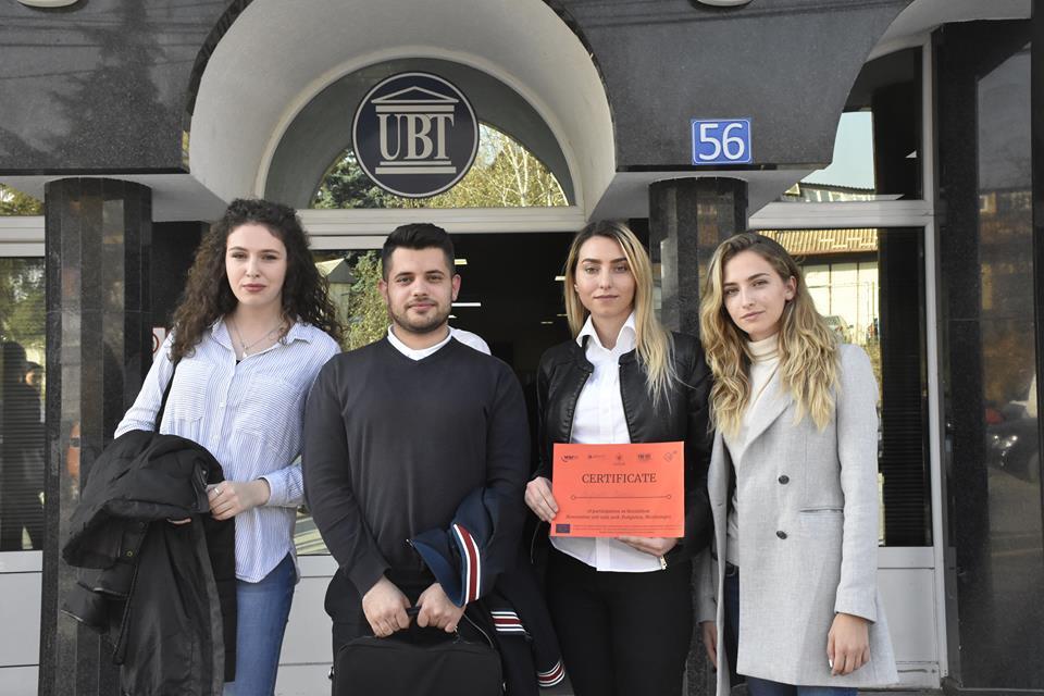 Studentë e UBT-së përfaqësojnë dinjitetshëm Kosovën në Shkollën e Inovacionit, në Mal të Zi