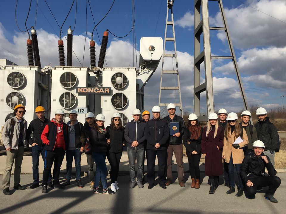 Studentët e UBT-së vizituan KOSTT-in