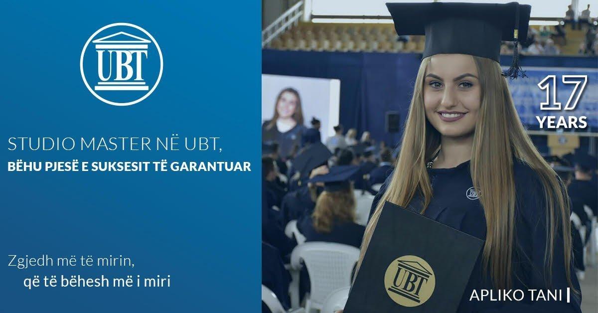 Interesim i jashtëzakonshëm për studime master në UBT – Aplikimi ende i hapur