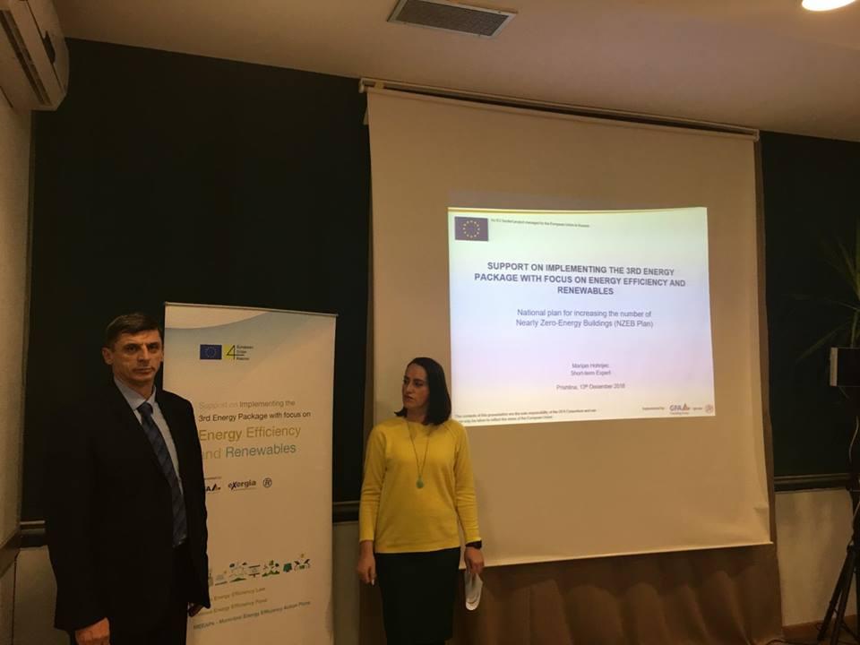Profesorët në UBT, pjesëmarrës në Seminarin e prezantimit të konceptit për ndërtesat me konsum afër zero-energji