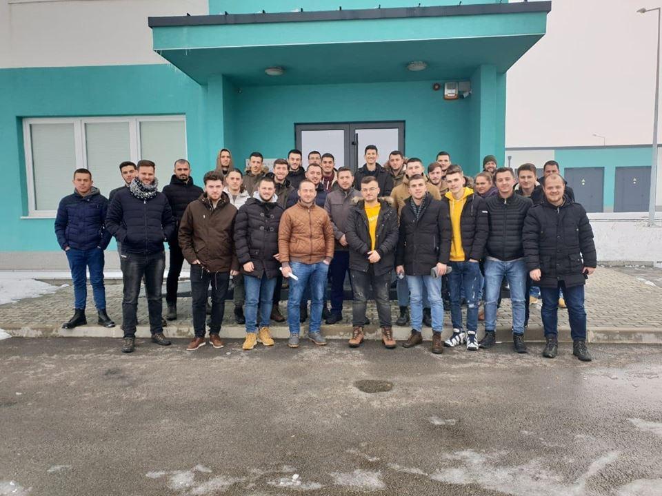 """Studentët e Inxhinierisë Ndërtimore vizituan Kompaninë e Ujesjellësit """"Prishtina"""""""