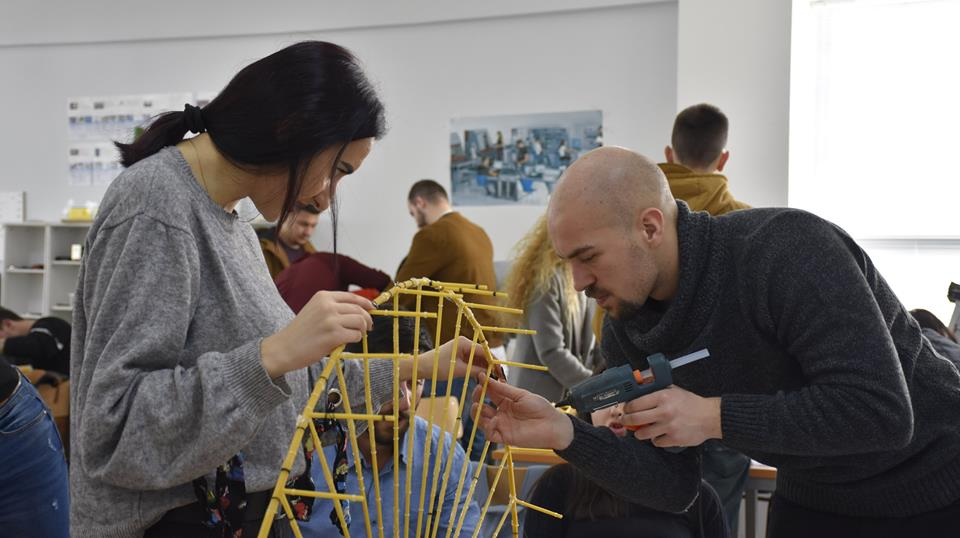 "The UBT students revealed their creativity in the competition, ""1st Spaghetti Bridge Building 2018 Challenge"""