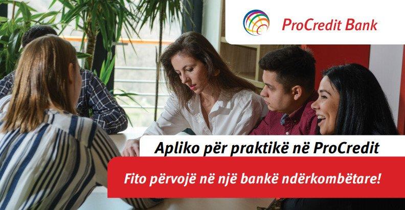 Banka ProCredit fton studentët e UBT-së të aplikojnë në Programin e Praktikës