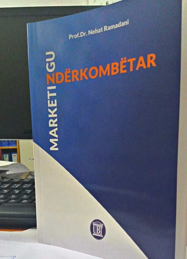 UBT boton librin Marketingu Ndërkombëtar, i ligjëruesit dr. Nehat Ramadani