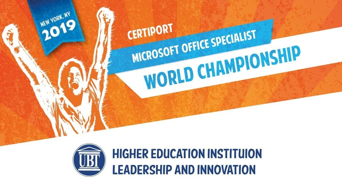 "For the first time in Kosovo, UBT and Certiadria organize the State Competition ""Microsoft Office Specialist"""