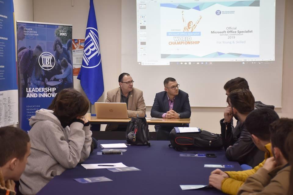 """UBT mbajti sesion informues për pjesëmarrje në Garën Shtetërore """"MOS"""""""