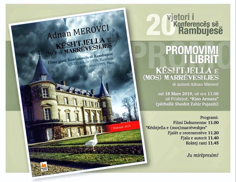 """Profesori i UBT-së, Adnan Merovci, promovon librin """"Kështjella e (Mos) Marrëveshjes"""""""