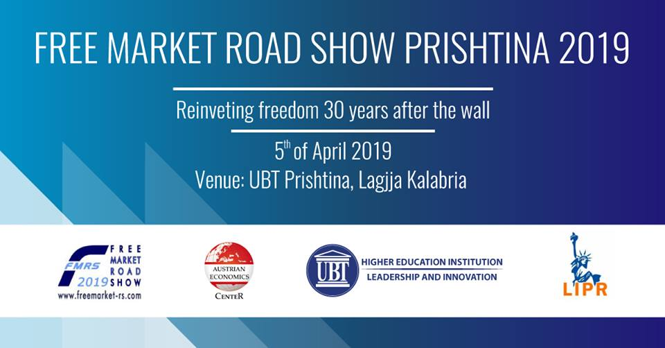 """Sot në UBT mbahet konferenca """"Reinventing Freedom 30 Years After The Wall"""" e Free Market Road Show"""