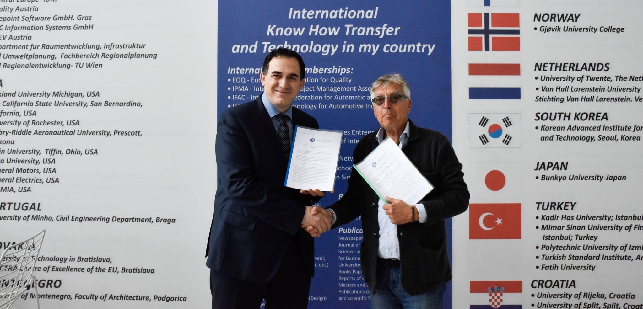 UBT filloi bashkëpunimin me Fondacionin Italian – Organizata e Kërkimit