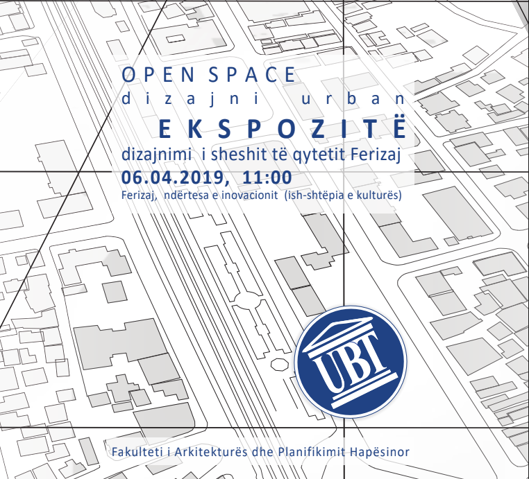 "Tomorrow, on 6th of April will be held the exhibition ""Design of the square in Ferizaj"""