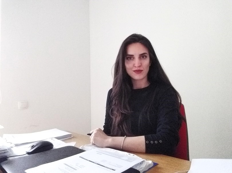 The UBT student Luiza Hoxha has been employed as an architect in DEKORATIV Company