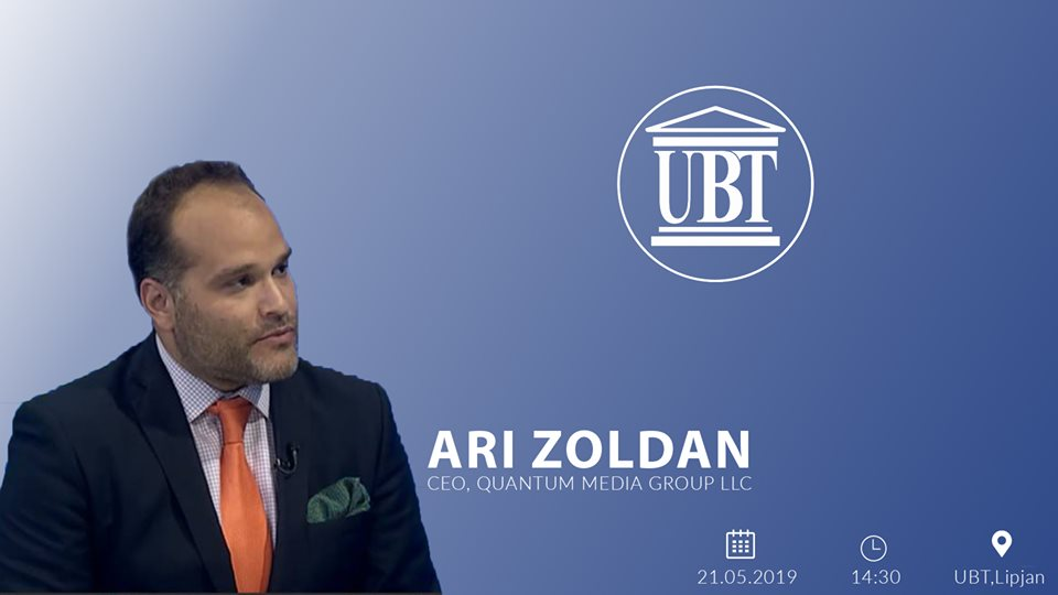 Today, CEO of Quantum Media Group, Ari Zoldan will hold a thematic lecture for UBT students