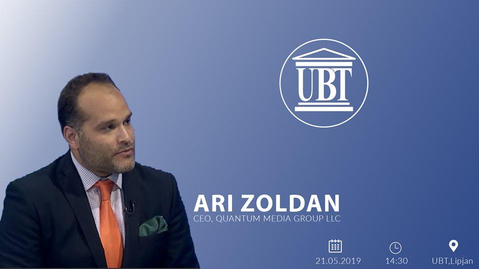 NJOFTIM: Sot, drejtori ekzekutiv i Quantum Media Group, Ari Zoldan do të mbajë ligjëratë tematike për studentët e UBT-së