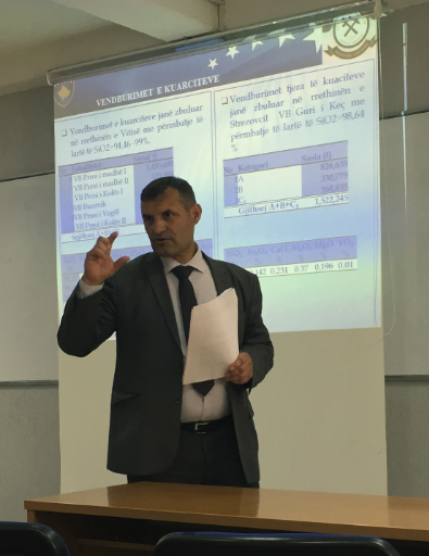 The head of Geological Service of Kosovo has given a lecture to UBT students regarding geological minerals