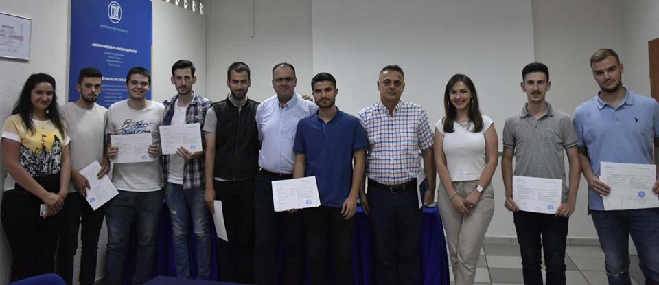 The group that attended training for IT Essentials was certified