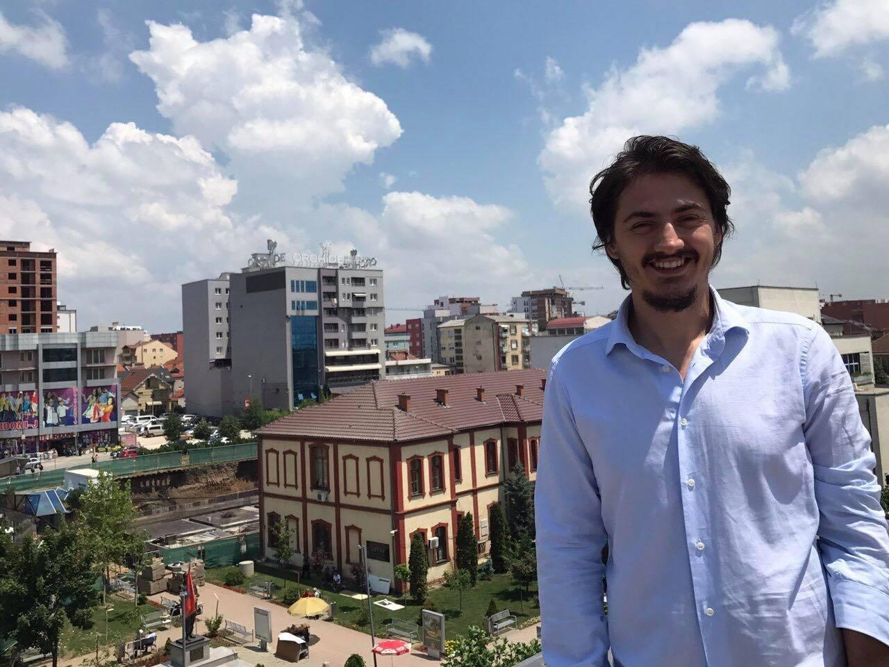 The former UBT student, Gramos Kamberi won the Fulbright Scholarship