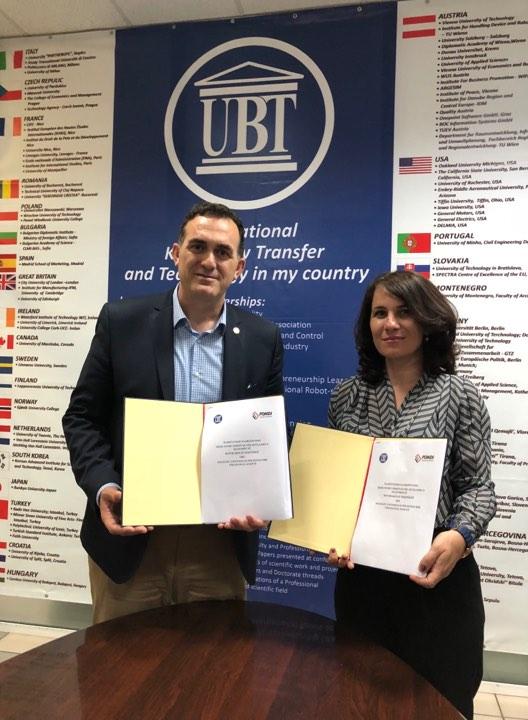 UBT lidh marrëveshje bashkëpunimi me Fondin Shqiptar për Zhvillimin e Diasporës
