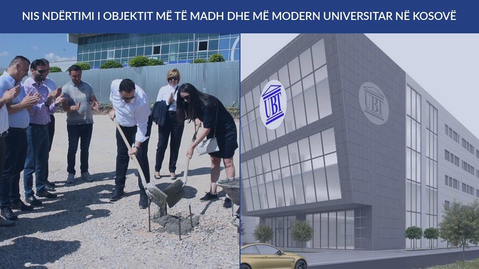 UBT po ndërton objektin më të madh dhe më modern universitar në Kosovë