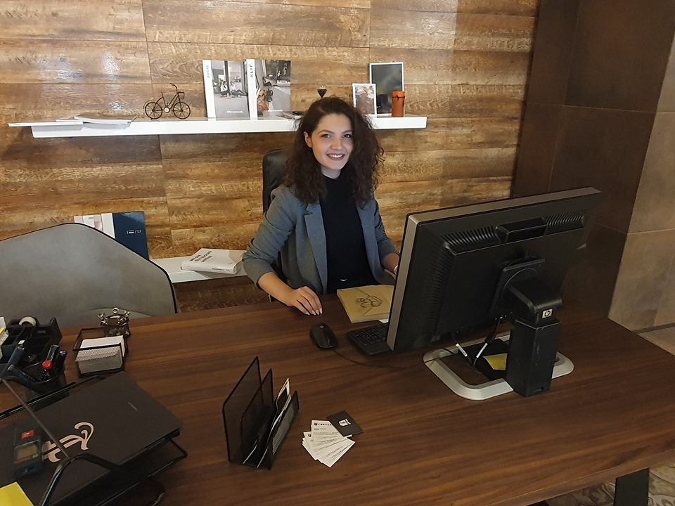 "UBT student Aurela Avdylaj has been employed in as an architect, at the well-known company ""Fortesa Home"""