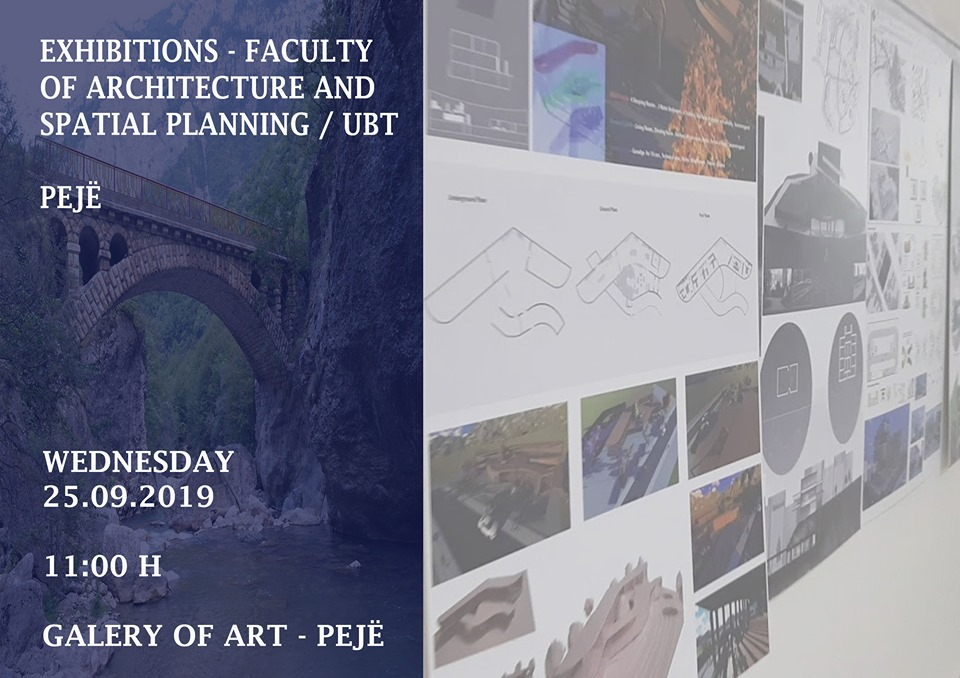 Announcement: Tomorrow, on 25 th of September is going to take place the exhibition from the faculty of Architecture