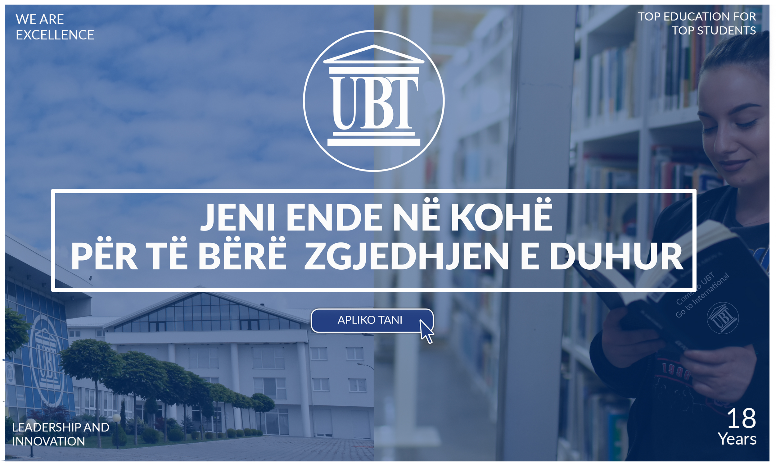 Make the right choice and transfer your studies at UBT