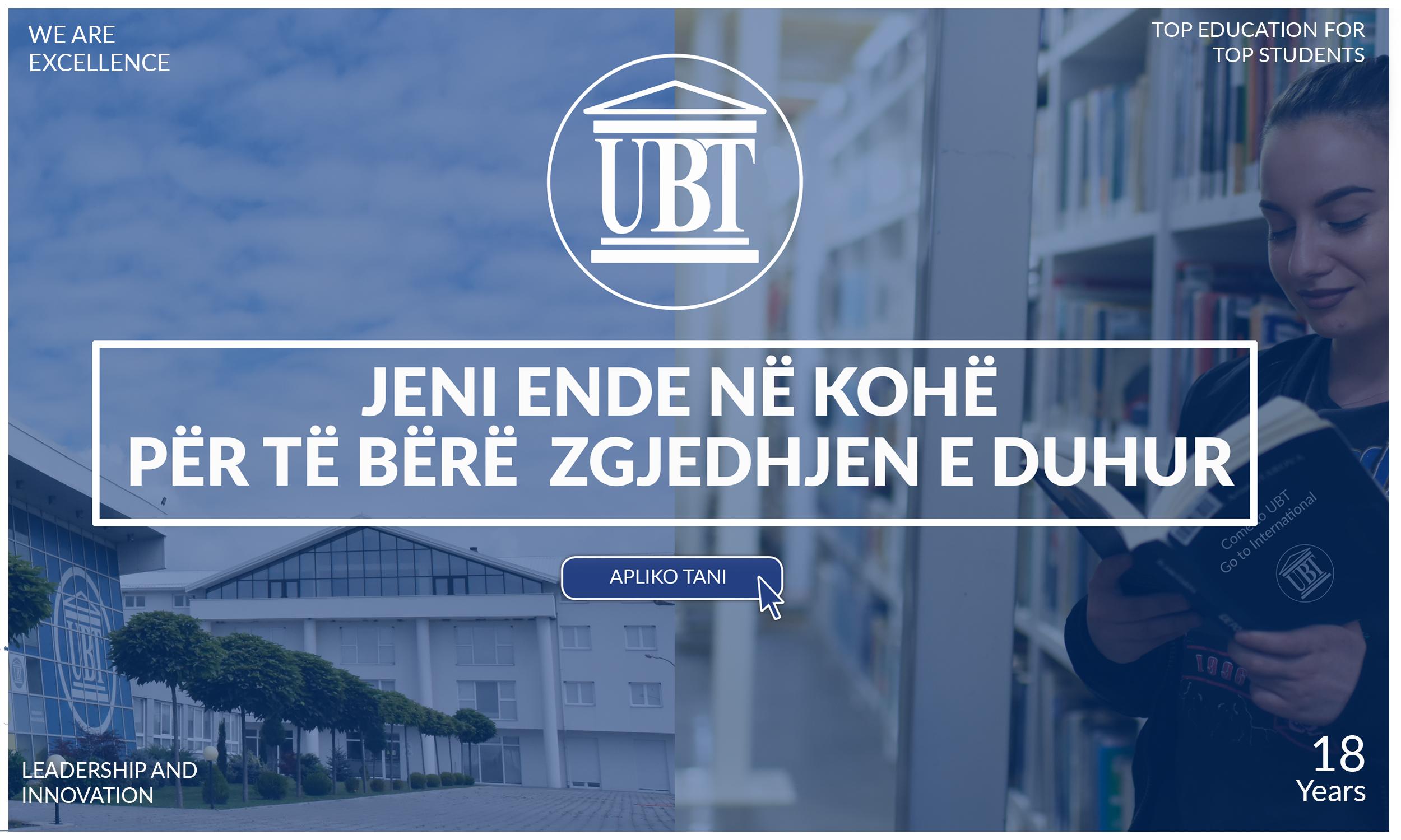 Jeni në kohë për ta bërë zgjedhjen e duhur, transferoni studimet në UBT
