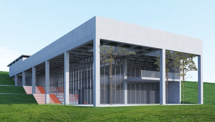 "UBT student Rilind Sadiku has designed a project for reconstruction of the library next to the street ""Kodra e Trimave"""