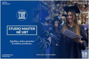 Studio master në UBT, jepi diplomës tënde vulën e dallimit