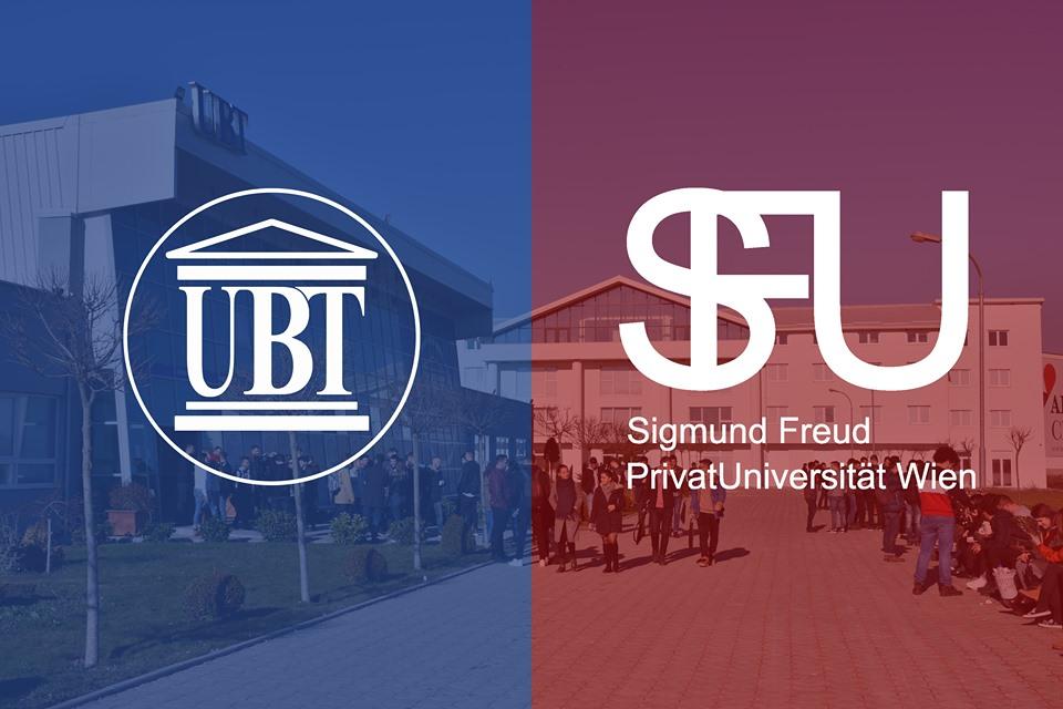 """UBT nënshkruan marrëveshje bashkëpunimi me Universitetin """"Sigmund Freud"""", në Vjenë"""