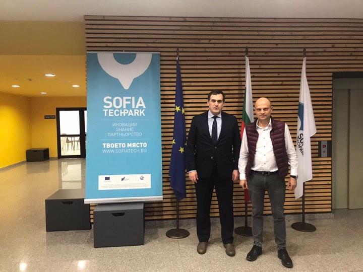 """Rektori Hajrizi pritet në takim nga udhëheqësit e """"Sofia Tech Park"""""""
