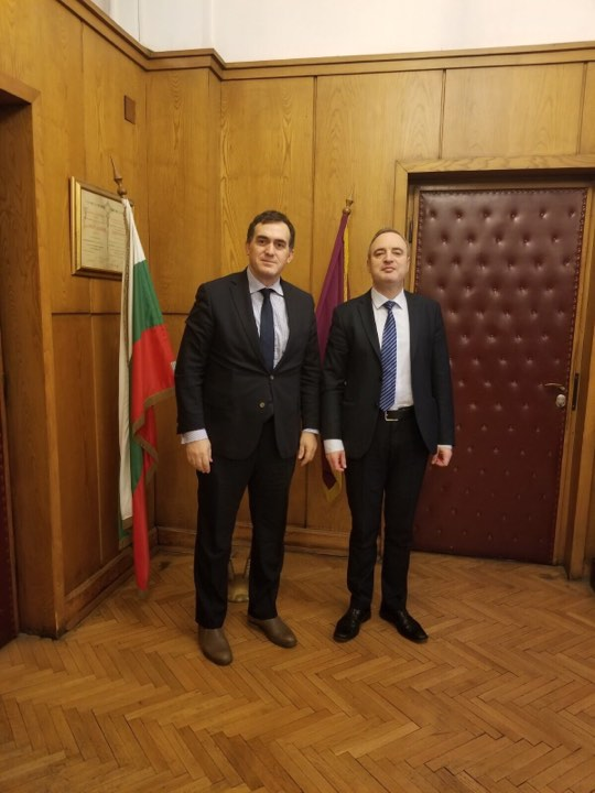 """Rektori Hajrizi në vizitë zyrtare në Bullgari, takohet me rektorin e Universitetin """"St. Kliment Ohridski"""""""